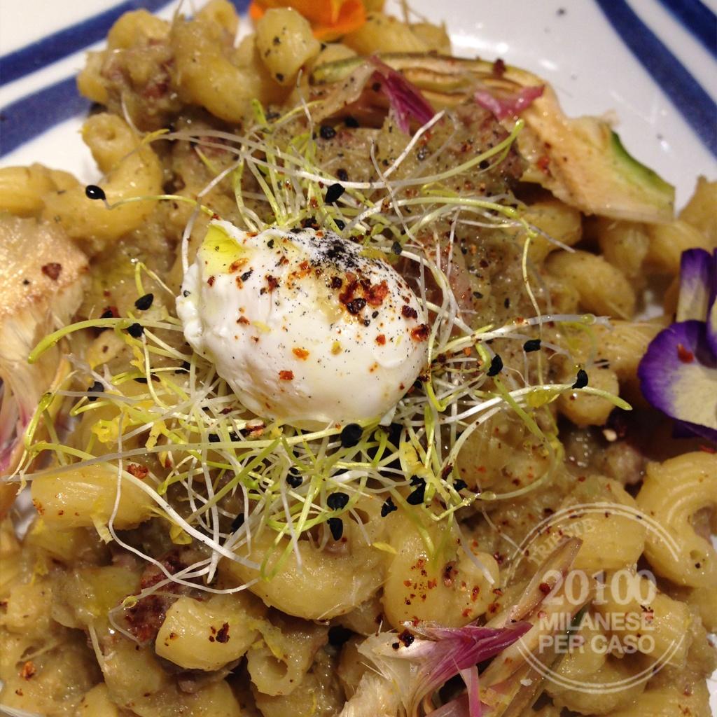pasta-crema-carciofi-salsiccia-quaglia