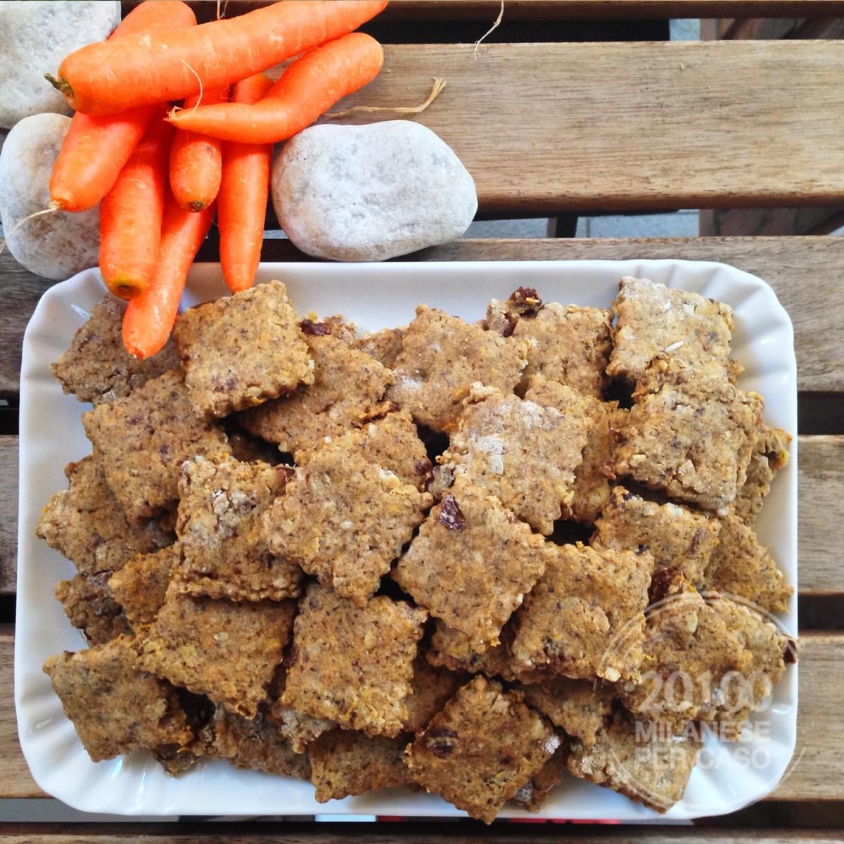 Biscotti integrali con carote