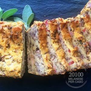 plumcake-mais-pancetta-radicchio-rosso-particolare